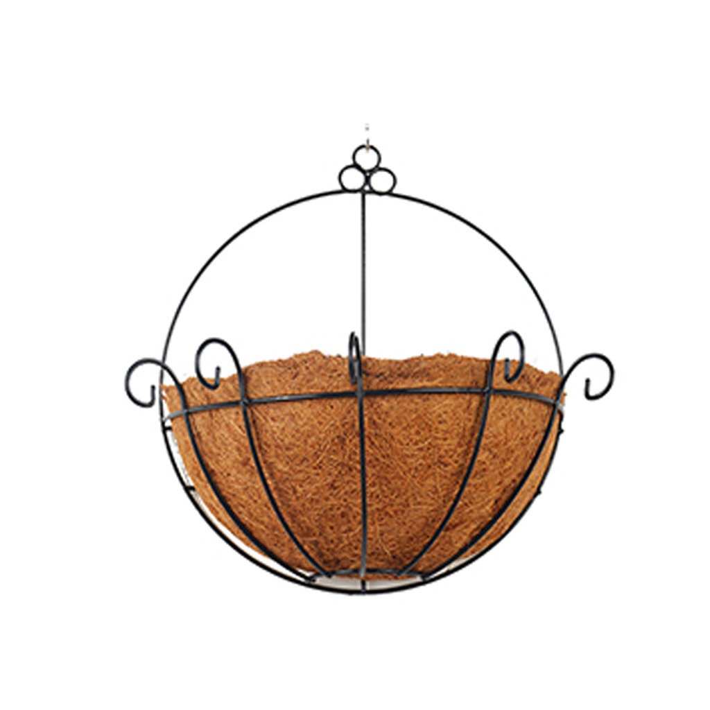 CSQ Wrought Iron Wall Hangings, Natural Coconut Palm Imitation Bird Nest Design Plant Stand Chlorophytum Bedroom Living Room Study 3033.5CM Flower Shelf