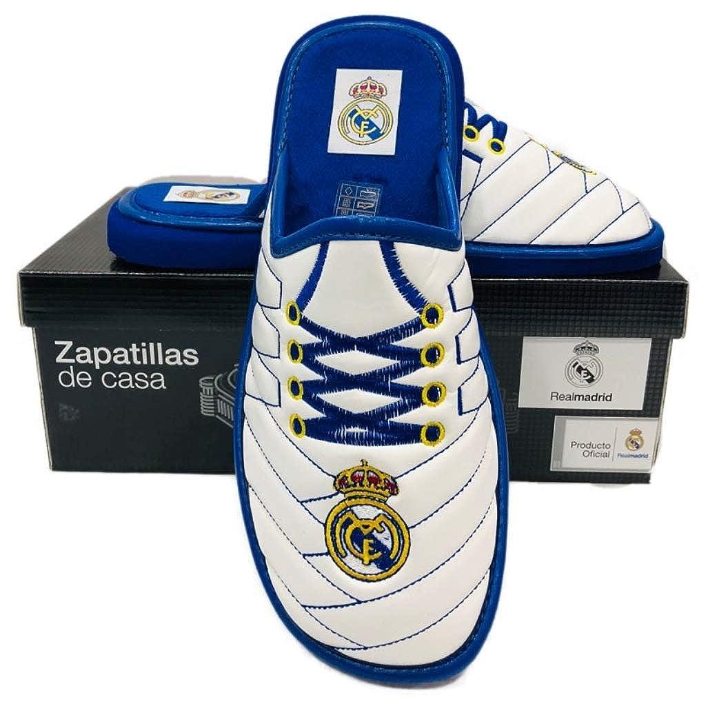 Real Madrid Zapatillas Andar en Casa Polipiel Bordado Cordones (40): Amazon.es: Ropa y accesorios