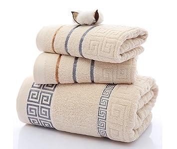 Juego de 3 toallas de microfibra y secado rápido para el baño