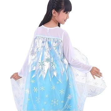 iikids Eiskönigin Prinzessin Kleid Kinder Mädchen Prinzessin Kostüm ...