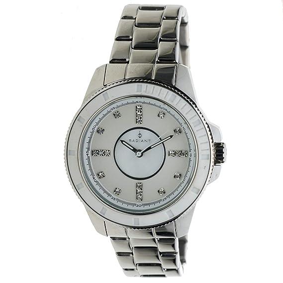 Radiant Ra-93202 Reloj Analogico para Mujer Colección Privalia Caja De Acero Inoxidable Esfera Color Nacar: Amazon.es: Relojes