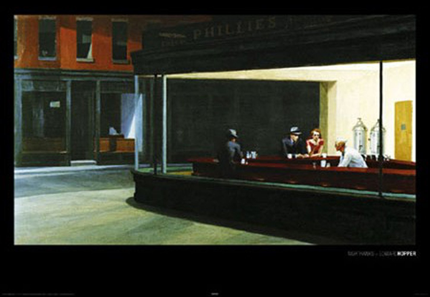 Amazon.de: 1art1 Empireposter - Hopper, Edward - Nighthawks - Größe ...