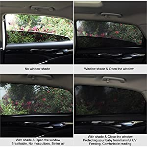 XPLUS Universal Fit Car Side Window Baby Sun Shade Protect Your Baby and Older Kids from the Sun, Fits 99% Cars (2 Pack)