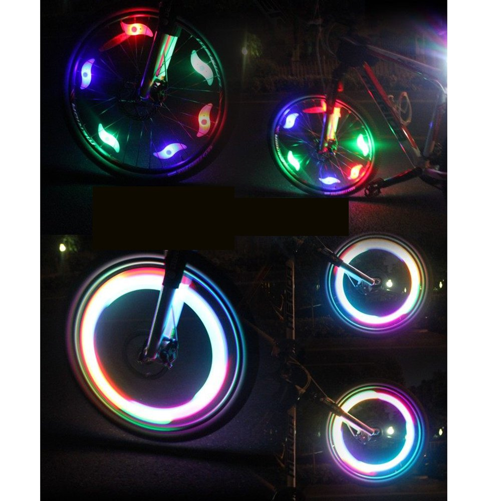 Amazon.com: AGPtek® 6 Pcs Bike Bicycle Cycling Tyre Wheel Spoke LED ...