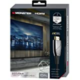 Monster, Inc. HDMI700HD4M Ultra HD High Speed HDMI Cable, Platinum, 15 feet