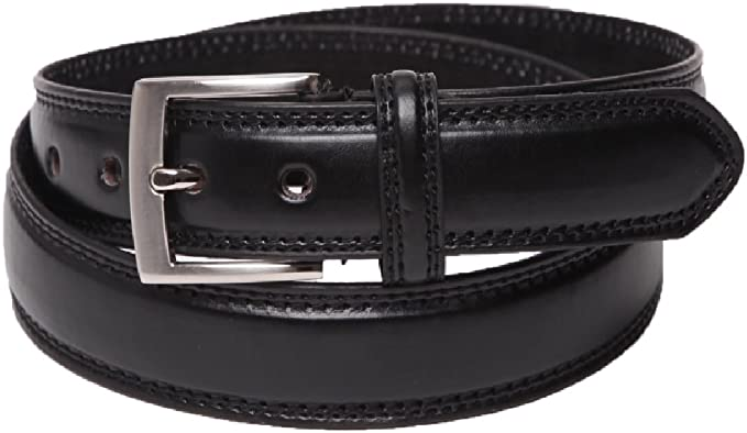 Men/'s leather belt Black trouser Suit belts Italian Milano classic buckles