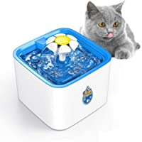 Sworway Pet Fountain, 84oz/2.5L Automatic Cat Water Fountain Dog Water Dispenser with 3 Replacement Filters & 1 Silicone…