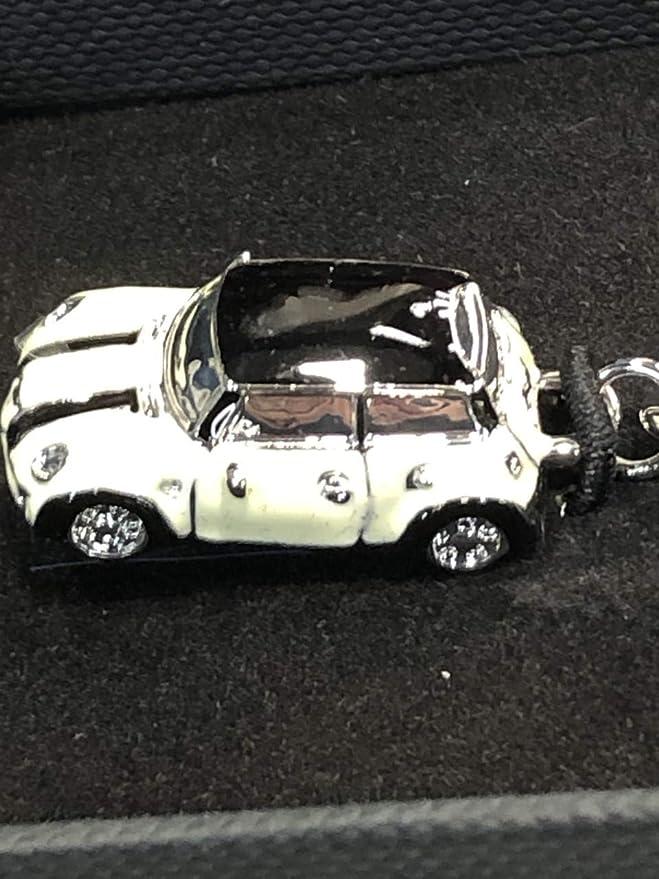 Mini Cooper Miniature Enamel Car Key Chain Ring 80902352307 BLACK
