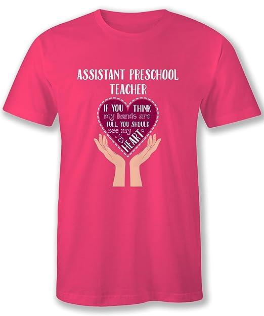 Hom Best Assistant Preschool Teacher Novelty Tshirts Heart Teachers