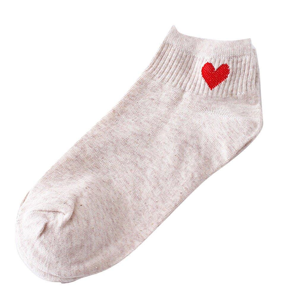 Women Socks Ankola Fashion Heart-Shaped Sock Comfortable Socks Comfortable Gift Idea For Mother, Wife, or Friend (Free Size, Beige) by Ankola-Socks (Image #1)