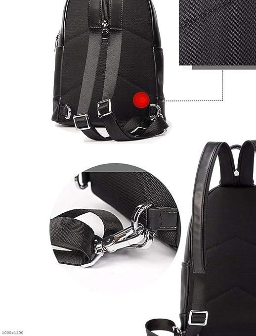 188736d91209 Amazon.com: YJRDA Men's Chest Bag, Leather Casual Men Shoulder ...
