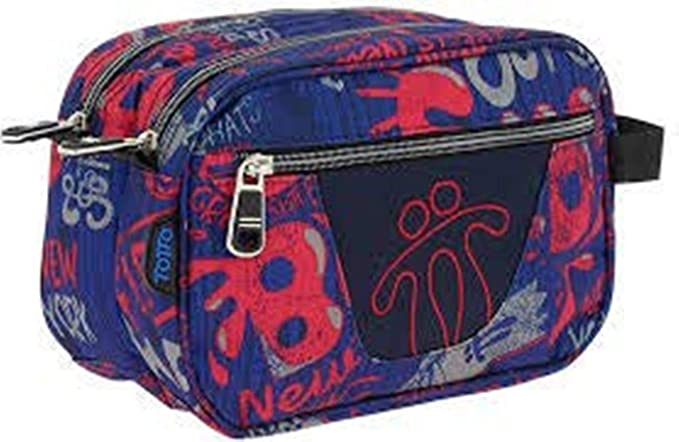 TOTTO AC52ECO010-1810Z-6LN Estuche Escolar Dos Compartimentos Estampado Backside, Plastilina, Multicolor, 26 cm: Amazon.es: Equipaje