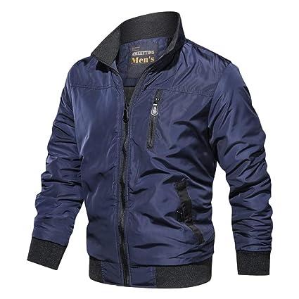 Nuevo otoño color sólido cuello alto casual chaqueta de ...