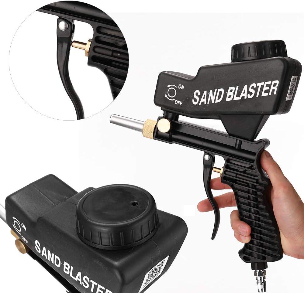 Kecheer Sandstrahlpistole Tragbare Gravitations-Sandstrahlmaschine Pneumatischer Sandstrahlsatz Rustproof Sandblaster Small Sandblasting Machine