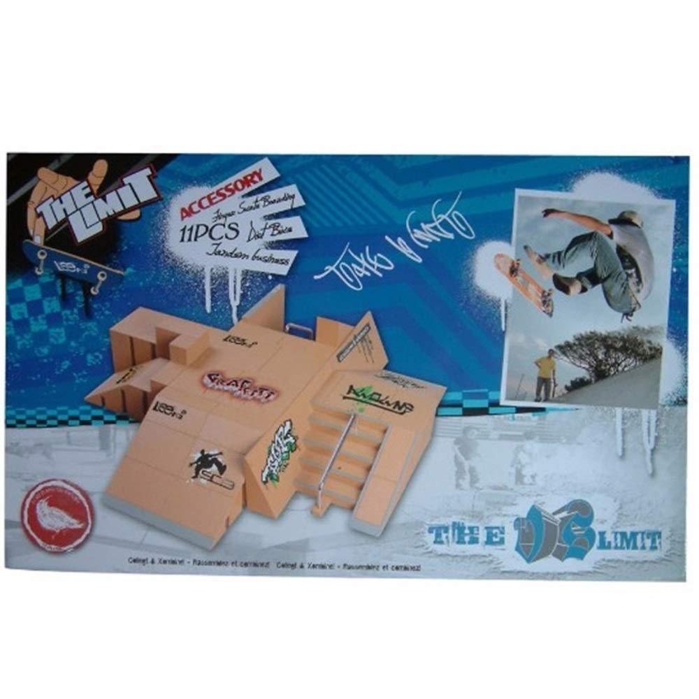 Mini Finger Skateboard Fingerboard Ramp Parts for Tech Deck Finger Board Ultimate Sports Training Props Game Ultimate Park Tianzhiyi Beginner Skate Park Kit