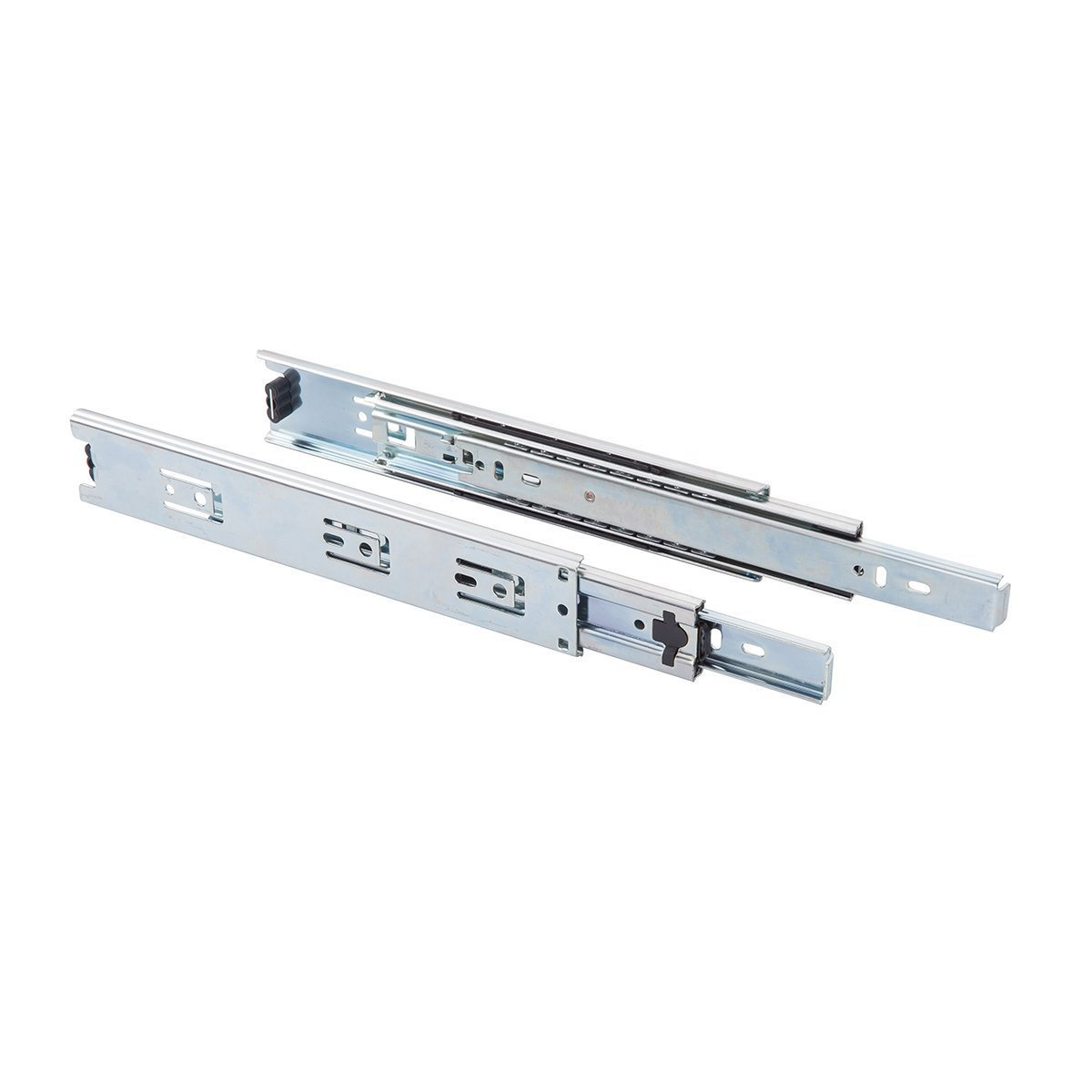 WoodworkPro Ball Bearing Drawer Slides, 28'', Nickel Plated-Steel, 1-Pair