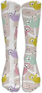 UFHRREEUR Sloth Animal Cute Compression Socks for Men & Women - Best for Running, Nurses, Shin Splints, Flight Travel, Skiing & Maternity Pregnancy - Boost Athletic Stamina & Recovery
