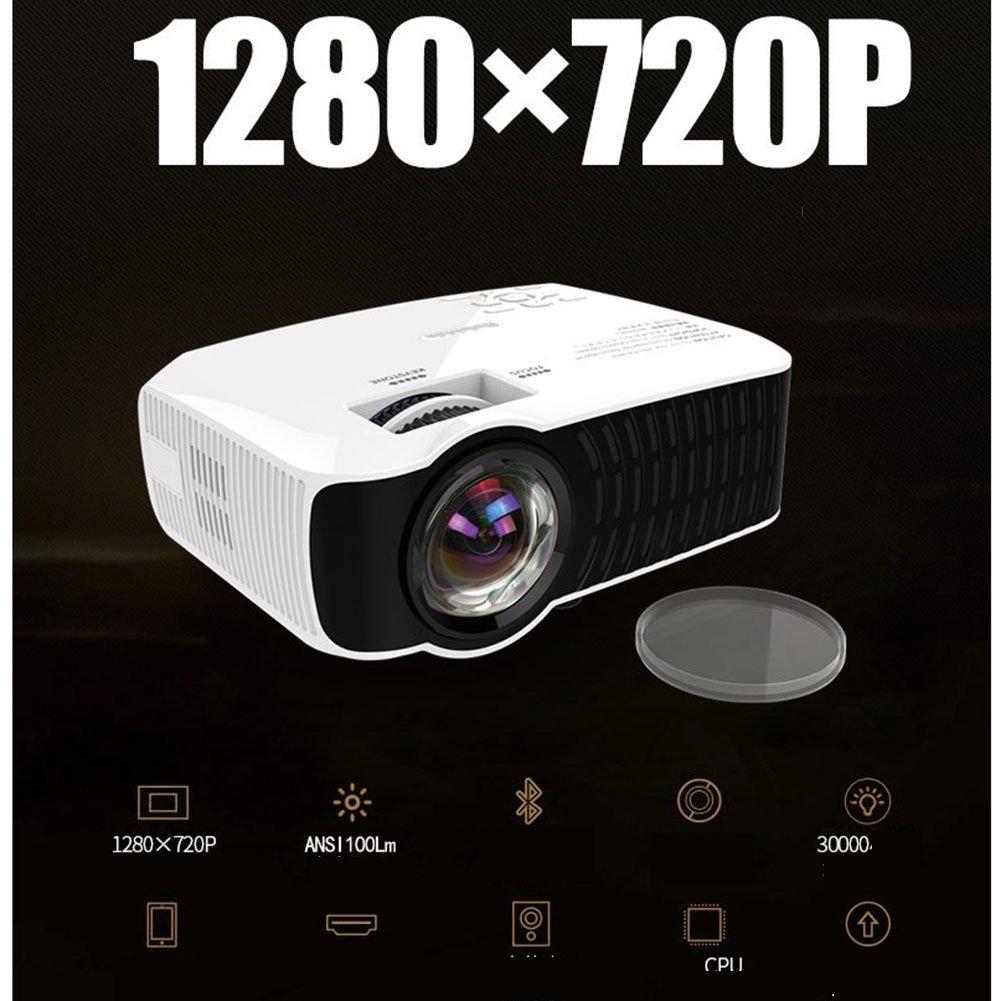 【オープニング大セール】 ミニ ポータブルプロジェクター、 画面共有 内蔵バッテリ ムービープレーヤー 画面投影 ホームシアター 無線LAN 無線LAN 画面投影 画面共有 720P HD 8GBのメモリ B07QZVX61N, ホビークラブ SAUNDERS:79f882af --- a0267596.xsph.ru