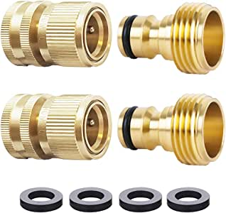 QINRUIKUANGSHAN 2pack Brass Garden Water Hose Quick Connector Tap Connector for Garden Irrigation Pipe Garden Hose Fittings