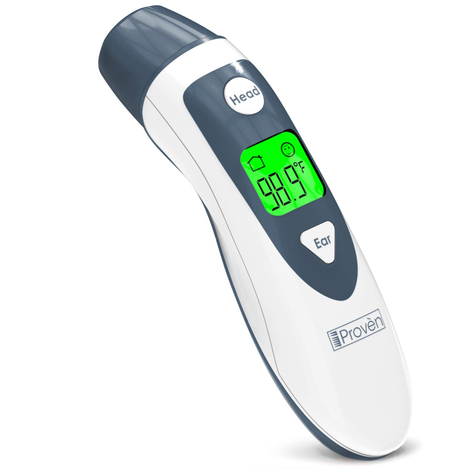 Baby Thermometer for Fever - Ear and Forehead Function - Approved Ear Thermometer for Kids - Digital Thermometer Medical - Temporal Thermometer - Infant Thermometer - iProven DMT489 Gray Cap