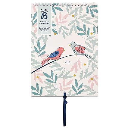 Calendario Pareja 2020 Busy B - estampado pájaros, con ...
