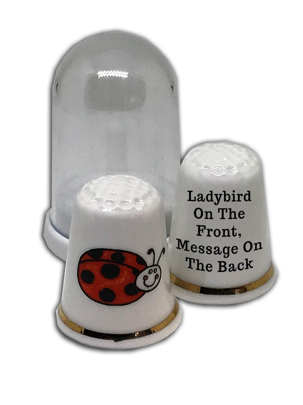Personalised Ladybird China Thimble
