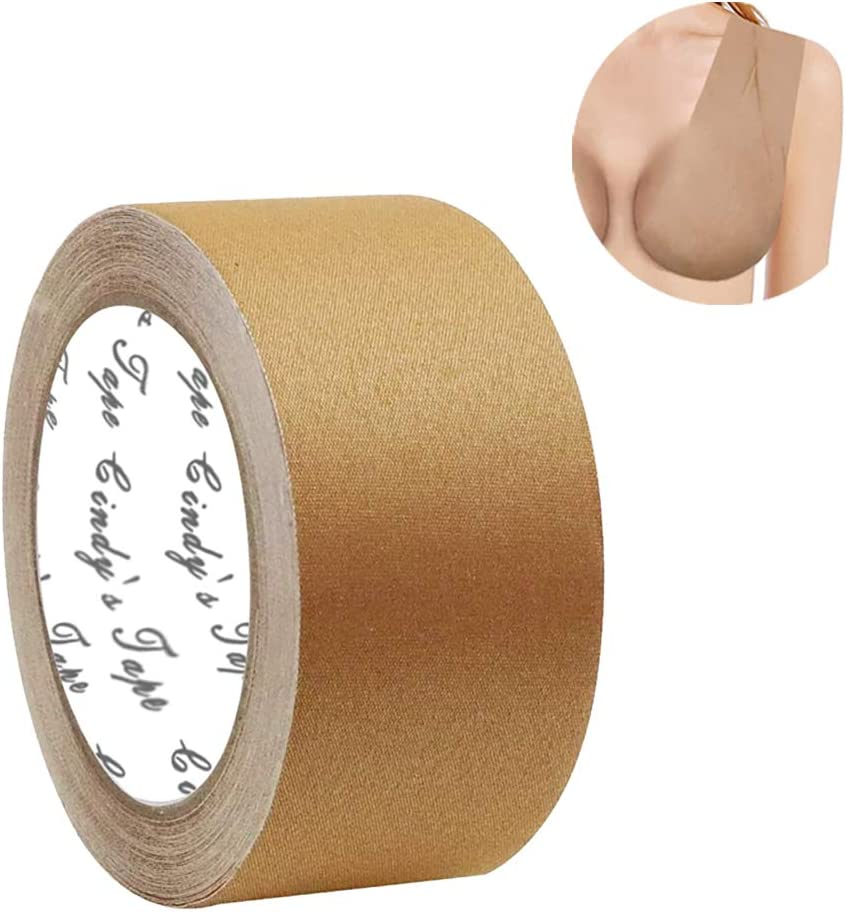 New Breast Lift Tape boobytape Nude Plus for Large Size Breast, for D Cup up Size, DIY Breast Lift Job, Body Tape,Bra Tape,Medical Grade and Waterproof.Kim K's Trick.Better Than Gaffer Tape