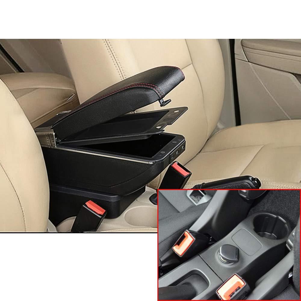 F/ür Smart Top Auto Armlehne Mittelarmlehne mittelkonsole Zubeh/ör Ladefunktion Mit 7 USB-Ports Doppelter Stauraum Schwarz