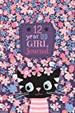 12 Year Old Girl Journal: Cute Cat Diary for Kids to Keep Memories, Draw and Sketch, Happy Birthday Notebook Wide Ruled and Blank Framed Sketchbook Pages,  50 sheets/100 pages, 6' x 9' Soft Cover