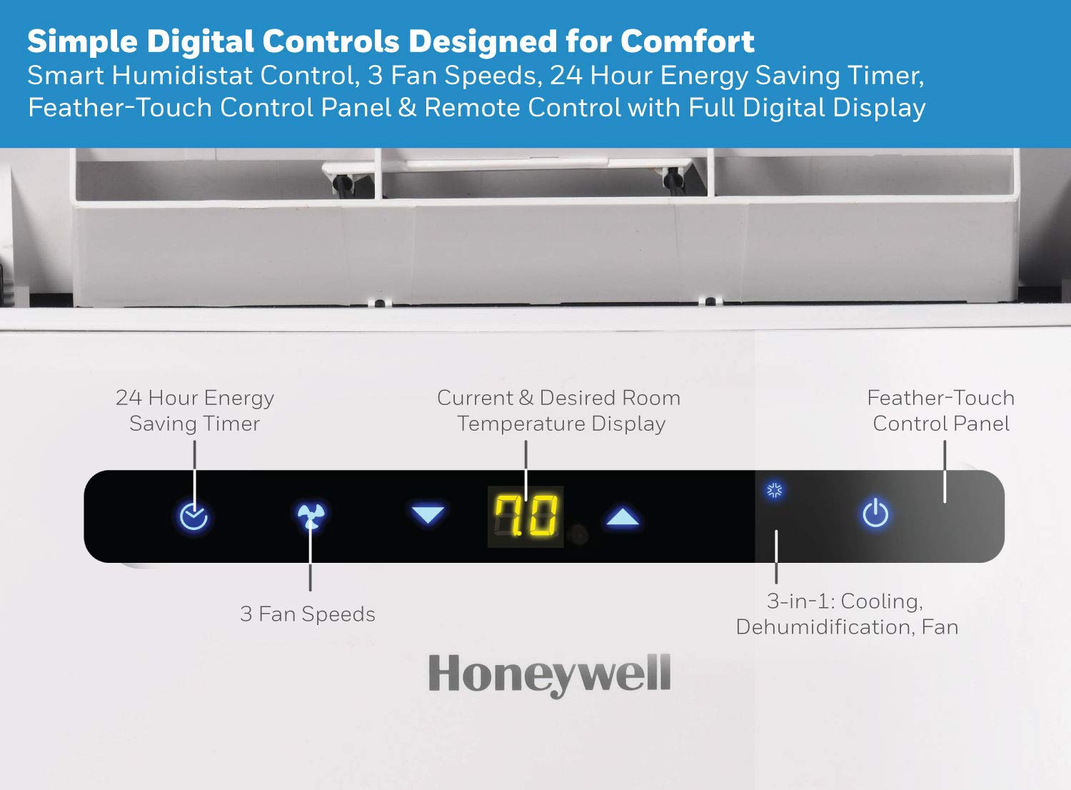 Honeywell MN10CESWW 10,000 Btu Portable Air Conditioner With ... on