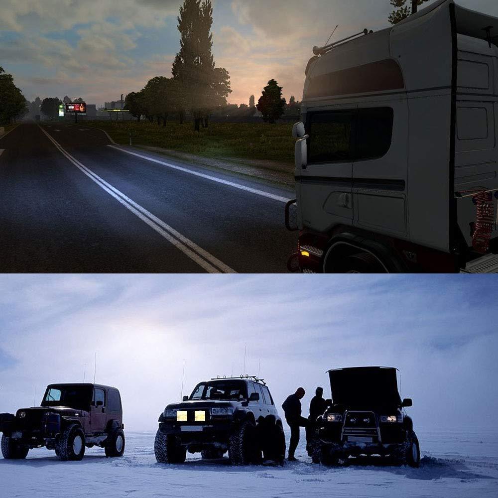 10-30V 6000K Wasserdicht IP67 4 x 72W HENGMEI 4 x 72W LED Arbeitsscheinwerfer 5400LM//St/ück LED Arbeitslicht Zusatzscheinwerfer Offroad Scheinwerfer f/ür SUV UTV ATV