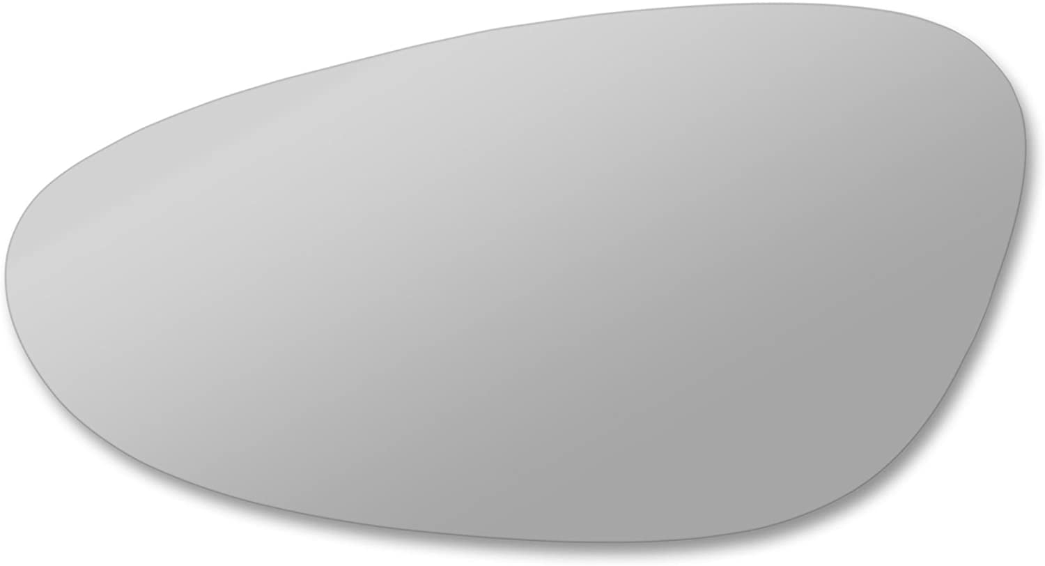 Left side wing mirror glass Pobox Real glass,door stick on mirror replacement Passenger side quick fix silver #Pobo-98//04-L/_c