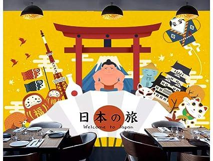 3d Custom Large Mural Japanese Style Wallpaper Sushi