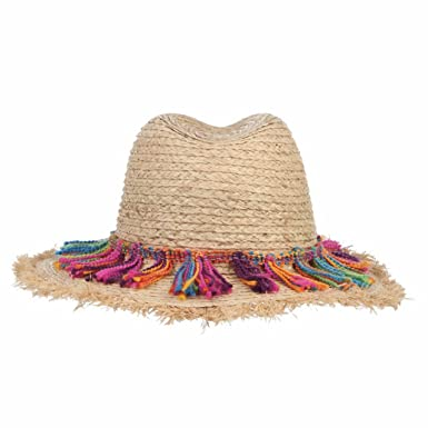 358c6a13 Image Unavailable. Image not available for. Color: Bohemian Ethnic Beach  Hats for Women Tassel Rope Large Brim Sun Hat