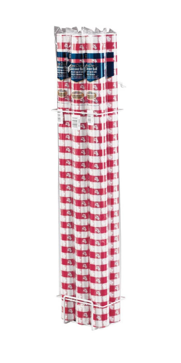 Pack of 6 Red Gingham Disposable Plastic Banquet Party Table Cloth Rolls 100'