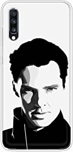 okteq Clear TPU Protection and Hybrid Rigid Clear Back Cover Compatible with Samsung Galaxy A70 - benedict cumberbatch black By okteq