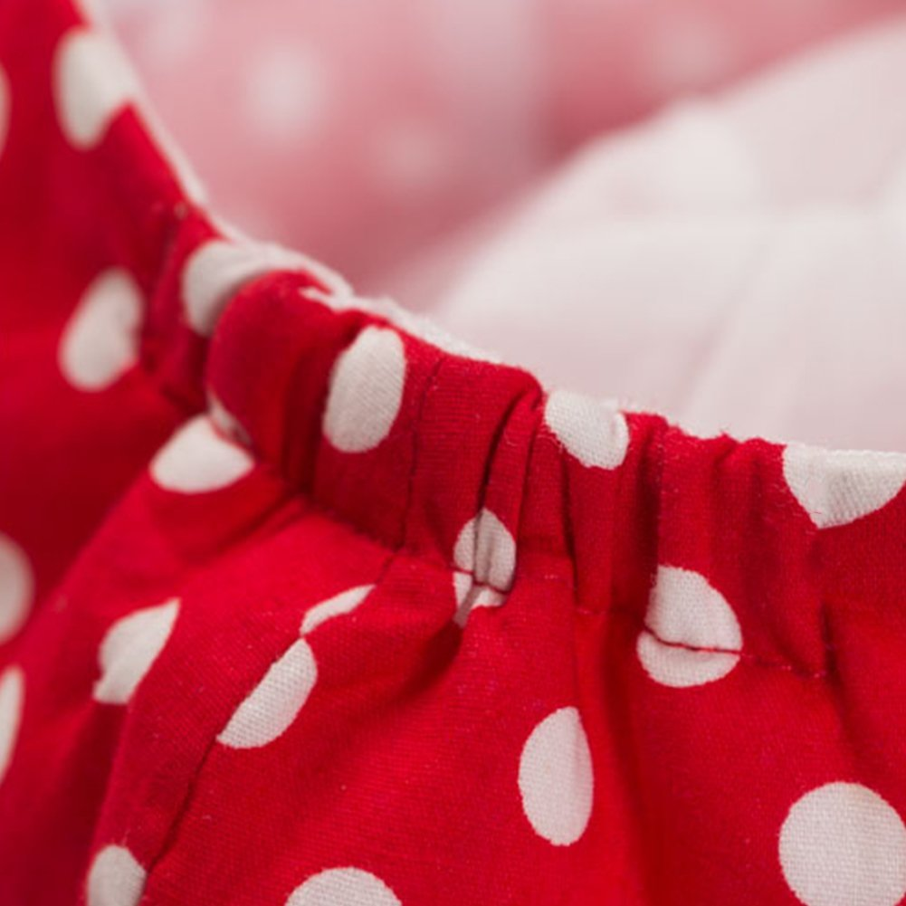 LOCOMO Girl Kid Cute Red Polka Dot Dotted Rose Newsboy Flat Cap Hat FBH025