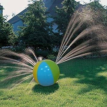Bola inflable de agua para niños con orificios para rociar agua, ideal para playa, uso al aire libre, fiestas, piscinas, etc: Amazon.es: Deportes y aire ...