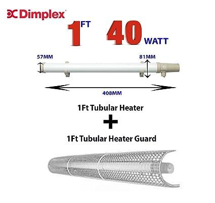 SUNHOUSE shtth1 40 W Tubular Calentador con construido en termostato con 1,5 m de