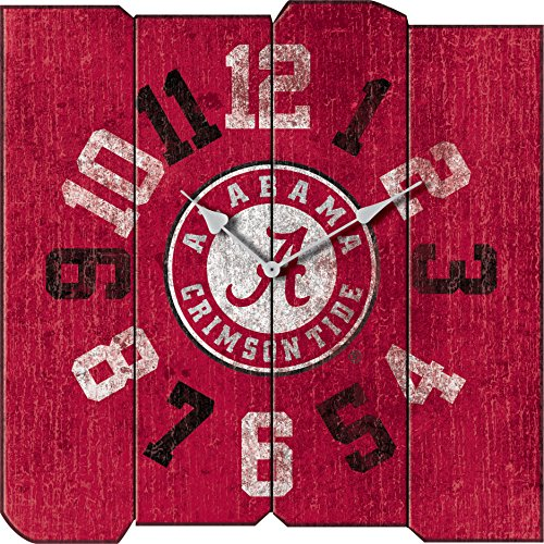 Imperial Officially Licensed NCAA Merchandise: Vintage Square Clock, Alabama Crimson Tide Alabama Crimson Tide Clock