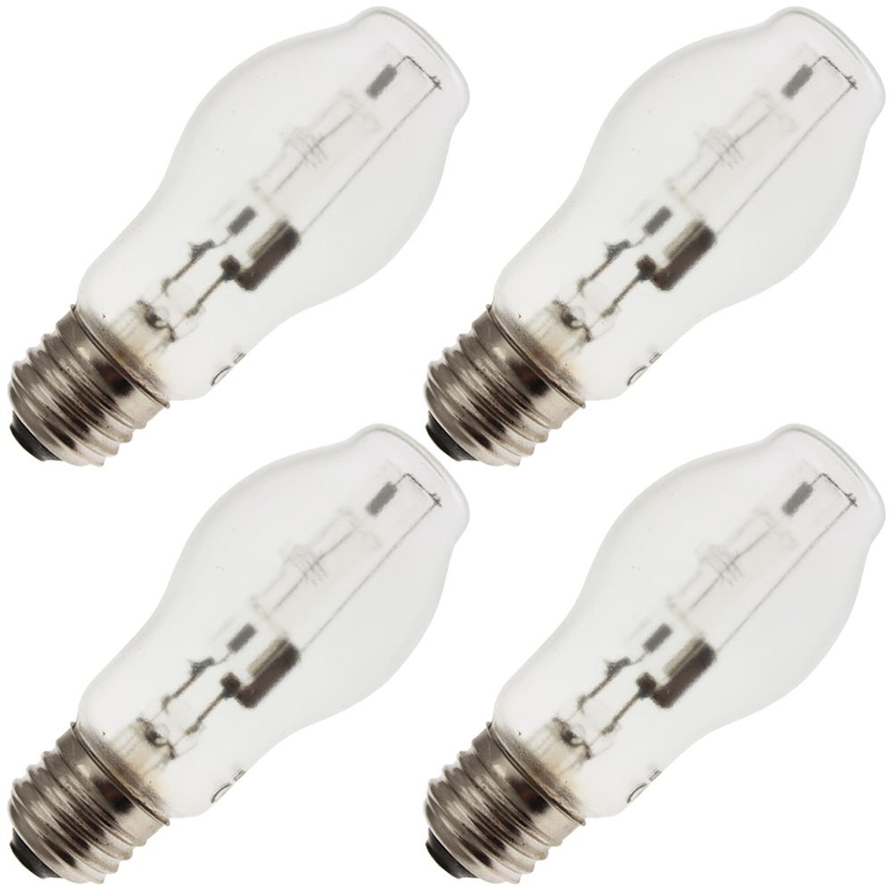 Generic 60BT15/HAL/CL/TF, Safety/Tough Coated, Shatter Resistant, Halogen Light Bulb (4 Light Bulbs)