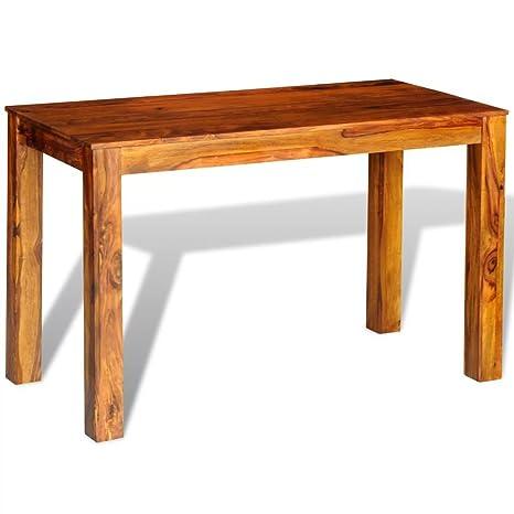 vidaXL Tavolo da pranzo in legno massello di sheesham 120 x 60 x 76 ...