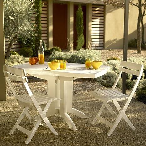 Salon de jardin Grosfillex vega 2 blanc: Amazon.fr: Jardin