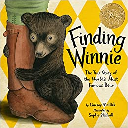 Image result for Finding Winnie: The True Story of the World's Most Famous Bear, illustrated by  Sophie Blackall, written by Lindsay Mattick
