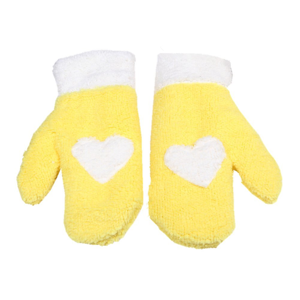 Cute Winter Women's Furry Gloves Mitten by Einfachheit