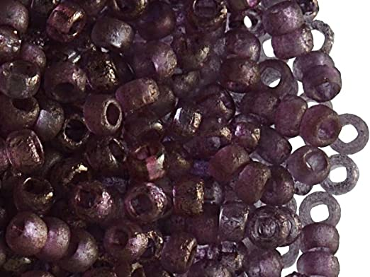 6//0 Med//Dark Red Glass Seed Beads 40 Grams