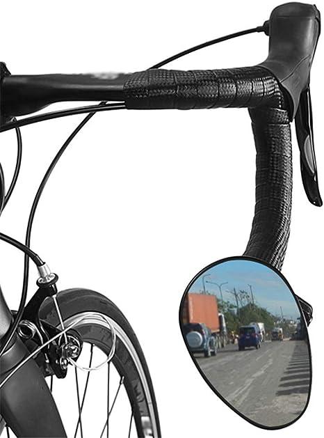 Espejo retrovisor de Manillar de Bicicleta de Carretera Unisex Izquierdo Derecho Universal Safe MTB Espejo retrovisor Herramienta de Montaje de Piezas de Bicicleta. (Color : Negro, tamaño : 11.6cm): Amazon.es: Deportes y