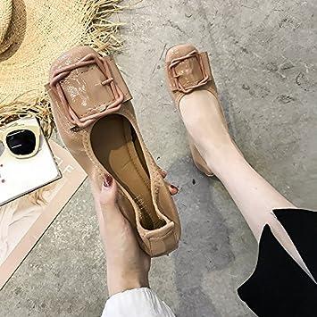Xue Qiqi Mejorar zapatos zapatos planos boca superficial solo zapatos Zapatos de barco de fondo blando