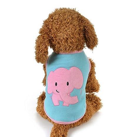 KEYI Ropa for Perros Mascotas Chaleco Creativo Elefante ...