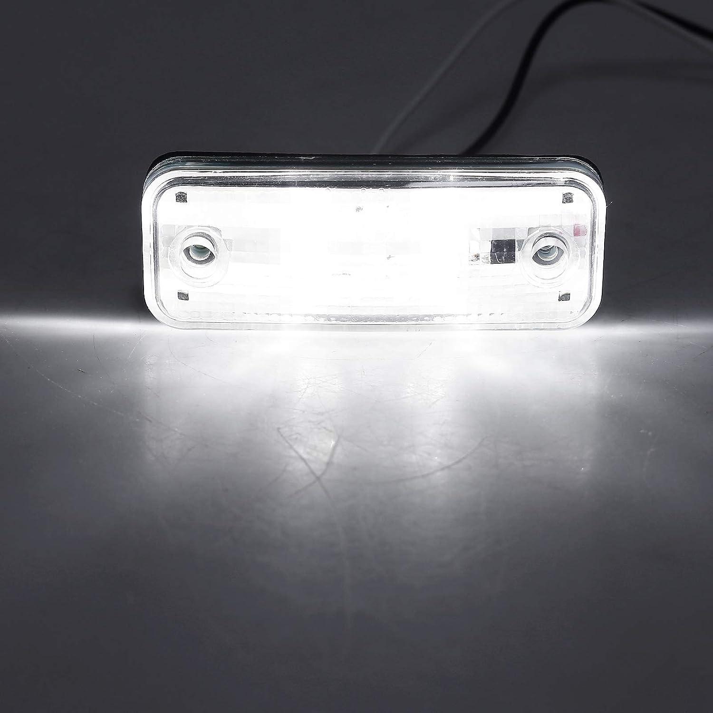 L/ámpara Pantalla en Corte de Diamante Color Blanco AUTOUTLET 4 LED de Luz Lateral para Camiones